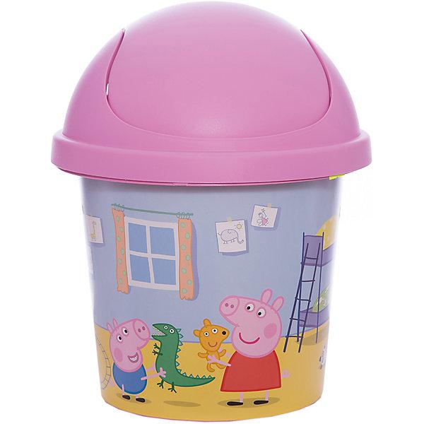 Мусорная корзина Little Angel Свинка Пеппа 7 л., круглая (розовая)Мусорные ведра<br>Характеристики:<br><br>• принт: Свинка Пеппа<br>• объем: 7 л.<br>• материал: пластик<br>• размер: 26,7х26,7х33 см.<br>• вес: 360 гр.<br><br>Веселая и стильная мусорная корзина «Свинка Пеппа» поможет приучить ребенка к порядку. Декор корзины выполнен с помощью износостойкой технологии IML, что придает каркасу дополнительную прочность и позволяет мыть корзину без опасения испортить рисунок.<br><br>Компактная и вместительная мусорная корзина «Свинка Пеппа» идеально впишется в интерьер детской комнаты.<br><br>Дополнительно можно приобрести комод «Свинка Пеппа» и ящик для хранения  «Свинка Пеппа».<br><br>Детскую мусорную корзину круглую 7л. Свинка Пеппа розовую можно купить в нашем интернет-магазине.<br><br>Ширина мм: 267<br>Глубина мм: 267<br>Высота мм: 330<br>Вес г: 429<br>Возраст от месяцев: 24<br>Возраст до месяцев: 60<br>Пол: Женский<br>Возраст: Детский<br>SKU: 7196263