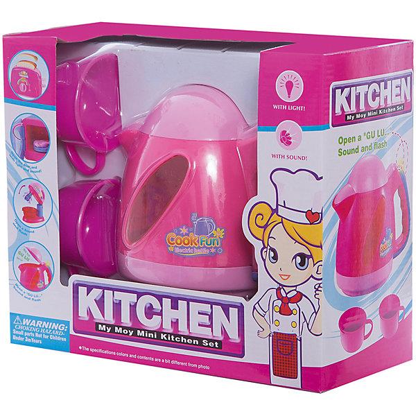 Чайник Shantou Gepai Моя маленькая кухняИгрушечная бытовая техника<br>Характеристики:<br><br>• тип игрушки: чайник;<br>• возраст: от 3 лет;<br>• упаковка: пластик; <br>• тип батареек: 2хАА;<br>• наличие батареек: не входят в комплект;<br>• размер: 21,5х10х18 см;<br>• вес:  290 гр;<br>• бренд: Shantou Gepai. <br><br>Чайник  «Моя маленькая кухня» станет хорошим подарком для маленькой хозяйки. Такая игрушка поможет девочке овладеть первым бытовыми навыками.  Этот  красочный чайник понравится как мальчикам, так и девочкам старше 3-х лет. Чайник включается с помощью кнопки на ручке - загорается лампочка, слышится звук кипения воды. У чайника открывается крышечка.<br><br>Этот набор станет отличным дополнение к игрушечной кухне маленькой девочки. Игрушка изготовлена из пластика. Работает от батареек.<br><br>Чайник  «Моя маленькая кухня» можно купить в нашем интернет-магазине.<br>Ширина мм: 215; Глубина мм: 100; Высота мм: 180; Вес г: 290; Возраст от месяцев: 36; Возраст до месяцев: 2147483647; Пол: Женский; Возраст: Детский; SKU: 7196491;