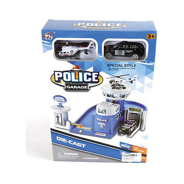Купить Гараж Shantou Gepai Гараж полиции + машина и вертолет, Китай, Мужской