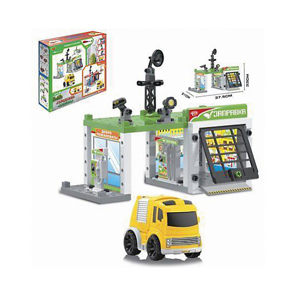 Игровой набор Shantou Gepai Автозаправочная станцияПарковки и гаражи<br>Характеристики:<br><br>• тип игрушки: игровой набор;<br>• возраст: от 3 лет;<br>• упаковка: пластик, металл;<br>• размер: 33х7х30 см;<br>• комплектация: заправка;<br>• вес: 1,1 кг;<br>• бренд: Shantou Gepai. <br><br>Игровой набор «Автозаправочная станция» -  это увлекательный игровой набор, который станет приятным сюрпризом для любого мальчишке, в игрушечном гараже которого хранится множество различных машинок. Теперь каждая из них сможет наполнить свой бак топливом на игрушечной заправке. С таким набором ребенок забудет про скуку, придумывая и разыгрывая увлекательные игровые истории. <br><br>Все детали набора выполнены из безопасного пластика и металлических элементов. Они прошли проверку на безопасность для детей. Набор подходит детей от трех лет и старше. <br><br>Игровой набор «Автозаправочная станция» можно купить в нашем интернет-магазине.<br>Ширина мм: 330; Глубина мм: 70; Высота мм: 300; Вес г: 1108; Возраст от месяцев: 36; Возраст до месяцев: 2147483647; Пол: Мужской; Возраст: Детский; SKU: 7196527;