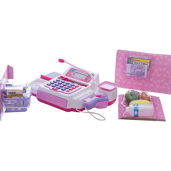 Касса Shantou Gepai со сканером, микрофоном и продуктамиДетский супермаркет<br>Характеристики:<br><br>• тип игрушки: игровой набор;<br>• возраст: от 3 лет;<br>• упаковка: пластик, металл;<br>• размер: 21х16х21 см;<br>• комплектация: кассовый аппарат, сканер, микрофон, продукты;<br>• вес: 1,1 кг;<br>• бренд: Shantou Gepai. <br><br>Касса сканер, микрофон, продукты -   это детская касса с набором продуктов, которая  может заинтересовать многих детей. Играя с данным набором, ребенок сможет вообразить себя в роли настоящего кассира или продавца магазина. <br><br>Игровой набор имеет специальный сканер, которым проверяют штрихкоды. Помимо этого в наборе есть муляжи продуктов и игрушечная валюта. С помощью такого интересного и разнообразного игрового набора ребенок достоверно исполнит роль кассира или продавца. Вместе со своими друзьями он придумает крупный сюжет о походе в магазин, где сможет воспользоваться всеми функциями игрушки. В процессе игры малыш разовьет свои социальные и коммуникативные навыки. <br><br>Все детали набора выполнены из безопасного пластика и металлических элементов. Они прошли проверку на безопасность для детей. Набор подходит детей от трех лет и старше. <br><br>Кассу сканер, микрофон, продукты  можно купить в нашем интернет-магазине.<br>Ширина мм: 450; Глубина мм: 210; Высота мм: 160; Вес г: 1125; Возраст от месяцев: 36; Возраст до месяцев: 2147483647; Пол: Женский; Возраст: Детский; SKU: 7196557;