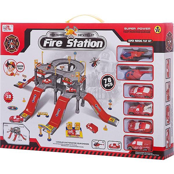 Парковка Shantou Gepai Пожарная служба 3 уровняПарковки и гаражи<br>Характеристики:<br><br>• тип игрушки: паркинг;<br>• возраст: от 3 лет;<br>• упаковка: пластик;<br>• размер: 48х7х34 см;<br>• вес: 1 кг;<br>• бренд: Shantou Gepai. <br><br>Паркинг «Пожарная служба», 3 уровня понравится любителем машинок и гонок.  Этот паркинг - замечательный игровой набор, который станет хорошим подарком любому мальчику.  Комплект станет незаменимым в большом игрушечном городке. Ребенок сможет потушить быстро распространяющийся огонь и спасти всех жителей, ведь в его распоряжении будут не только 4 машины с лестницами и длинными шлангами, но и 2 вертолета.<br><br>Двухэтажная парковка с несколькими подъездными путями обеспечит высокую оперативность пожарных — они смогут выехать на место происшествия сразу после получения сигнала. Юный спасатель будет рад такому замечательному подарку — играть с набором очень интересно. Ребенок придет в восторг от такого набора. Игрушка отлично подходит в виде подарка для детей от трех лет и старше.<br><br>Паркинг «Пожарная служба», 3 уровня можно купить в нашем интернет-магазине.<br>Ширина мм: 480; Глубина мм: 70; Высота мм: 340; Вес г: 1013; Возраст от месяцев: 36; Возраст до месяцев: 2147483647; Пол: Мужской; Возраст: Детский; SKU: 7196561;