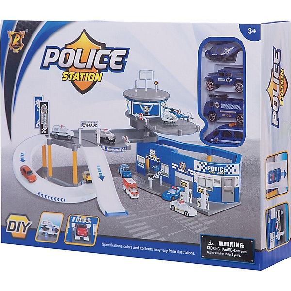 Парковка Shantou Gepai Полиция 2 уровня + 3 машины и вертолетПарковки и гаражи<br>Характеристики:<br><br>• тип игрушки: парковка;<br>• возраст: от 3 лет;<br>• упаковка: пластик;<br>• размер: 46х10х34 см;<br>• вес: 1 кг;<br>• бренд: Shantou Gepai. <br><br>Парковка «Полиция», 2 уровня понравится любителем машинок и гонок.  Это полицейский центр с двухуровневой парковкой. Необычная и занятная конструкция не даст соскучиться ни одному любителю игр с участием полицейских. Парковка имеет специальные места для стоянки автомобилей, а второй этаж представляет собой посадочную станцию для вертолета. <br><br>В связи с этим, в комплект также входят 3 полицейские машины и вертолет. Благодаря этому ребенок сможет не только играть с данным набором самостоятельно, но и приглашать в игру своих друзей, что сделает процесс игры еще более захватывающим.<br><br>Игра с данным набором поспособствует развитию логического мышления, воображения и подарит массу положительных эмоций. Ребенок придет в восторг от такого набора. Игрушка отлично подходит в виде подарка для детей от трех лет и старше.<br><br>Парковку «Полиция», 2 уровня можно купить в нашем интернет-магазине.<br>Ширина мм: 460; Глубина мм: 100; Высота мм: 340; Вес г: 1042; Возраст от месяцев: 36; Возраст до месяцев: 2147483647; Пол: Мужской; Возраст: Детский; SKU: 7196569;
