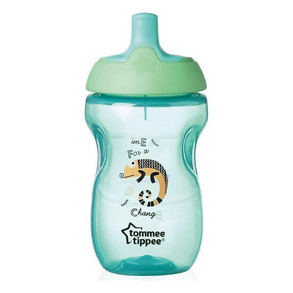 Бутылочка для кормления Tommee Tippee Explora Sports 360 мл, зеленаяПоильники<br>Характеристики:<br><br>• возраст: 1+;<br>• материал: пластик, (не содержит Бисфенол А);<br>• объем чашки: 360 мл;<br>• размер упаковки: 18х10,5х8 см;<br>• вес: 105 г;<br>• производитель: Tommee Tippee.<br><br>Бутылочки Explora Sports созданы специально для маленьких любителей активных игр и спорта. Линия детских чашек-непроливаек разработана для того, чтобы помочь малышу перейти от бутылочки к чашке. Дети смогут научиться пить из чашки без помощи родителей, не пачкая одежду и не обливаясь.<br><br>Уникальный сверхчувствительный клапан, состоящий из двух частей, помогает малышу контролировать поток жидкости. Бутылочки декорированы яркими рисунками.<br><br>Мягкий и гибкий носик с гигиеничным покрытием не поранит нежные детские дёсны. Благодаря специальной форме ребенку будет удобно держать бутылочку.<br><br>Чашку можно мыть в посудомоечной машине.<br><br>Бутылочка для кормления «Explora Sports» (цвет зеленый), Tommee Tippee можно купить в нашем интернет-магазине.<br>Ширина мм: 80; Глубина мм: 80; Высота мм: 155; Вес г: 103; Цвет: зеленый; Возраст от месяцев: 8; Возраст до месяцев: 36; Пол: Унисекс; Возраст: Детский; SKU: 7196595;