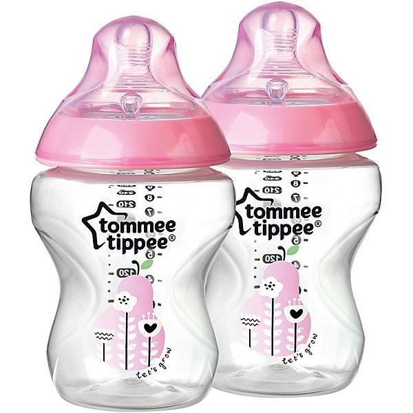Бутылочки для кормления Tommee Tippee Closer To Nature с антиколиковым клапаном 2 шт., 260 мл, розовыеБутылочки и аксессуары<br>Характеристики:<br><br>• возраст: 0+;<br>• материал: полипропилен (не содержит бисфенол-А), силикон;<br>• объем бутылочки: 260 мл;<br>• скорость потока: медленная;<br>• размер упаковки: 16х15х8 см;<br>• вес: 192 г;<br>• производитель: Tommee Tippee.<br><br>Удобная бутылочка предназначена для кормления малышей с первых дней жизни. Уникальная форма соски имитирует естественную эластичность и движение маминой груди, обеспечивая правильное сочетание грудного вскармливания и кормления из бутылочки.<br><br>Компактная анатомическая форма бутылочки обеспечивает тесный контакт между мамой и малышом во время кормления. Антиколиковый клапан предотвращает попадание воздуха в желудок малыша, защищая ребенка от коликов.<br><br>Сменные соски обеспечивают разную скорость потока: медленную, среднюю, быструю и переменную. Для удобства на бутылочку нанесена мерная шкала.<br><br>В комплект входят две бутылочки нежно-розового цвета.<br><br>Бутылочки для кормления с рисунком с антиколиковым клапаном 260 мл, 2 шт., (розовый цвет), Tommee Tippee можно купить в нашем интернет-магазине.<br><br>Ширина мм: 70<br>Глубина мм: 70<br>Высота мм: 150<br>Вес г: 121<br>Цвет: розовый<br>Возраст от месяцев: 0<br>Возраст до месяцев: 36<br>Пол: Унисекс<br>Возраст: Детский<br>SKU: 7196611