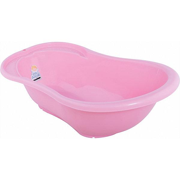 Детская ванночка Little Angel Ангел со сливом и термометром, 84 см (розовая)Товары для купания<br>Характеристики товара:<br><br>• возраст: с рождения;<br>• материал: полипропилен, ПВХ;<br>• длина: 84 см;<br>• размер упаковки: 84х46х29 см;<br>• вес упаковки: 898 гр.;<br>• страна производитель: Россия.<br><br>Детская ванночка «Ангел» со сливом и термометром розовая — удобная ванночка для купания малыша с самого рождения. Ванночка имеет анатомическую форму. По бокам расположены небольшие углубления для средств гигиены. <br><br>Дно оснащено нескользящими ножками для безопасного купания. Ванночка дополнена сливом. Встроенный термометр позволяет контролировать температуру воды. Выполнена из качественных безопасных материалов.<br><br>Детскую ванночку «Ангел» со сливом и термометром розовую можно приобрести в нашем интернет-магазине.<br>Ширина мм: 84; Глубина мм: 46; Высота мм: 29; Вес г: 898; Цвет: розовый; Возраст от месяцев: 0; Возраст до месяцев: 3; Пол: Женский; Возраст: Детский; SKU: 7196799;