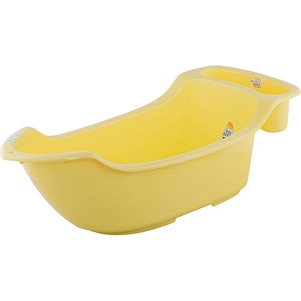 Детская ванночка Little Angel Жемчужинка с карманом, сливом и термометром, 55 л. (желтая)Товары для купания<br>Характеристики товара:<br><br>• возраст: с рождения;<br>• материал: полипропилен, ПВХ;<br>• в комплекте: ванночка, термометр;<br>• объем: 55 литров;<br>• размер упаковки: 106х47х33 см;<br>• вес упаковки: 1,66 кг;<br>• страна производитель: Россия.<br><br>Детская ванночка «Жемчужинка» желтая — удобная ванночка для купания малыша с самого рождения. На дне имеются противоскользящие накладки. Сбоку органайзер, в котором можно хранить предметы для купания и средства гигиены. <br><br>Ванночка дополнена сливом с надежной пробкой. В комплекте термометр, который позволит измерять температуру воды. Выполнена из качественных безопасных материалов.<br><br>Детскую ванночку «Жемчужинка» желтую можно приобрести в нашем интернет-магазине.<br>Ширина мм: 106; Глубина мм: 47; Высота мм: 33; Вес г: 1660; Цвет: желтый; Возраст от месяцев: 0; Возраст до месяцев: 3; Пол: Унисекс; Возраст: Детский; SKU: 7196808;