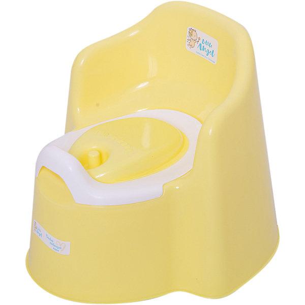 Детский горшок Little Angel с крышкой (желтый)Детские горшки и писсуары<br>Характеристики товара:<br><br>• возраст: от 1 года;<br>• материал: полипропилен;<br>• размер изделия: 36,5х34х31 см;<br>• размер упаковки: 37х34х31 см;<br>• вес упаковки: 831 гр.;<br>• страна производитель: Россия.<br><br>Горшок детский Little King с крышкой желтый — удобный горшок, выполненный в виде кресла со спинкой и подлокотниками. Спинка повторяет очертания детской спины. Внутренняя часть легко вынимается для чистки. <br><br>Горшок оснащен системой защиты от брызг, универсальной как для девочек, так и для мальчиков. Горшок имеет вырез на задней стенке, при помощи которого его можно переносить. Закрывается крышкой при необходимости. Выполнен из качественных безопасных материалов.<br><br>Горшок детский Little King с крышкой желтый можно приобрести в нашем интернет-магазине.<br>Ширина мм: 37; Глубина мм: 34; Высота мм: 31; Вес г: 831; Цвет: желтый; Возраст от месяцев: 12; Возраст до месяцев: 3; Пол: Унисекс; Возраст: Детский; SKU: 7196811;