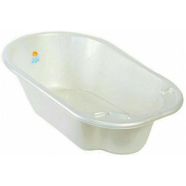 Детская ванночка Little Angel Дельфин (белая перламутровая)Товары для купания<br>Характеристики товара:<br><br>• возраст: с рождения;<br>• материал: полипропилен;<br>• длина: 80 см;<br>• размер упаковки: 80х51х25 см;<br>• вес упаковки: 1,07 кг;<br>• страна производитель: Россия.<br><br>Ванночка детская «Дельфин» белая — удобная ванночка для купания и водных процедур малыша с самого рождения. Большие габариты позволяют использовать ее даже для крупных деток, весом до 11 кг. <br><br>Ванночка оснащена эргономичным углублением, которое поддерживает спинку малыша в правильном положении. Выполнена из качественных безопасных материалов.<br><br>Ванночку детскую «Дельфин» белую можно приобрести в нашем интернет-магазине.<br>Ширина мм: 80; Глубина мм: 51; Высота мм: 25; Вес г: 1070; Цвет: белый; Возраст от месяцев: 0; Возраст до месяцев: 3; Пол: Унисекс; Возраст: Детский; SKU: 7196814;