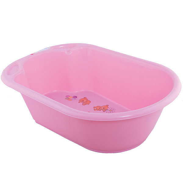 Детская ванночка Little Angel Дельфин с дизайном Bears (розовая)Товары для купания<br>Характеристики товара:<br><br>• возраст: с рождения;<br>• материал: полипропилен;<br>• длина: 80 см;<br>• размер упаковки: 80х51х25 см;<br>• вес упаковки: 1,07 кг;<br>• страна производитель: Россия.<br><br>Ванночка детская «Дельфин» с дизайном Bears розовая — удобная ванночка для купания и водных процедур малыша с самого рождения. Большие габариты позволяют использовать ее даже для крупных деток, весом до 11 кг. <br><br>Ванночка оснащена эргономичным углублением, которое поддерживает спинку малыша в правильном положении. Дно украшено изображениями забавных мишек. Выполнена из качественных безопасных материалов.<br><br>Ванночку детскую «Дельфин» с дизайном Bears розовую можно приобрести в нашем интернет-магазине.<br>Ширина мм: 80; Глубина мм: 51; Высота мм: 25; Вес г: 1070; Цвет: розовый; Возраст от месяцев: 0; Возраст до месяцев: 3; Пол: Женский; Возраст: Детский; SKU: 7196825;