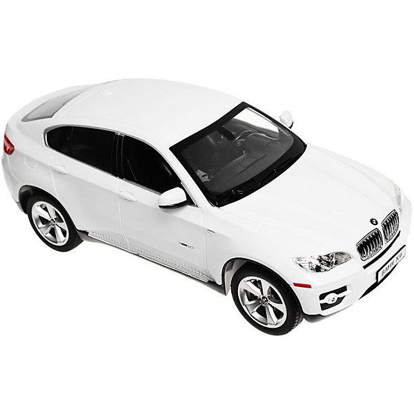 Радиоуправляемая машина Rastar BMW X6, 1:14 (белая)Радиоуправляемые машины<br>Характеристики:<br><br>• радиоуправляемая машинка на пульте управления;<br>• частота 27MHz;<br>• радиус действия пульта: 15-45 м;<br>• время непрерывной работы: 45 минут;<br>• независимая система подвески;<br>• движение вперед-назад, повороты вправо-влево;<br>• во время движения светятся фары;<br>• скорость движения: 12 км/ч;<br>• масштаб: 1:24;<br>• тип батареек: 5 шт. типа АА (автомобиль) + 1 шт. типа крона 9V (пульт управления);<br>• батарейки приобретаются отдельно;<br>• материал: металл, пластик, резина;<br>• длина машинки: 35 см;<br>• размер упаковки: 46х20х23 см; <br>• вес в упаковке: 1,6 кг.<br><br>Радиоуправляемая машинка Rastar разгоняется до скорости 12 км/ч, может ехать влево, вправо, вперед и назад. Пульт управления позволяет задать желаемое направление движения. Радиус действия пульта составляет 15-45 м. Во время езды фары светятся, а при торможении и движении назад работают стоп-сигналы. В процессе игры с автомобилем Инфинити развивается координация движений, реакция, маневренность.<br><br>Машину р/у Rastar BMW X6 1:14 со светом, цвет белый можно купить в нашем интернет-магазине.<br>Ширина мм: 430; Глубина мм: 200; Высота мм: 230; Вес г: 1600; Возраст от месяцев: 36; Возраст до месяцев: 84; Пол: Мужской; Возраст: Детский; SKU: 7196973;