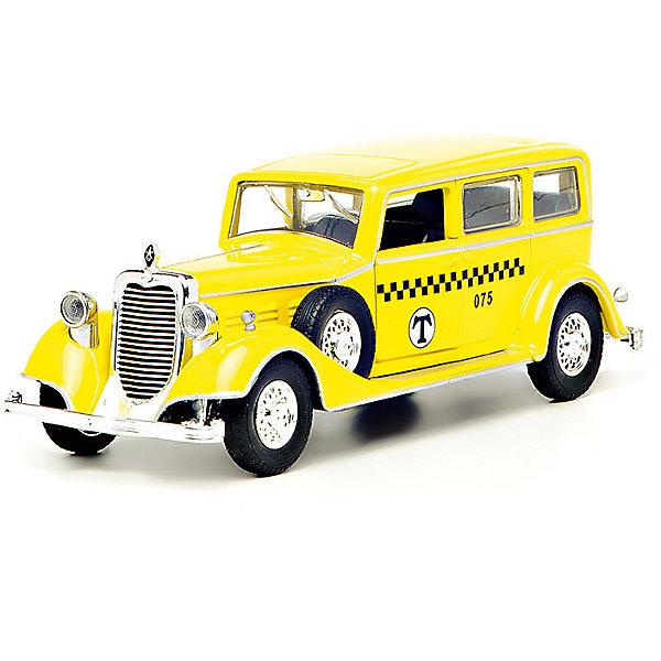 Коллекционная машина Технопарк Ретро (желтая)Машинки<br>Характеристики:<br><br>• инерционная машинка;<br>• автомобиль выполнен в ретро-стиле;<br>• световые и звуковые эффекты;<br>• двери открываются;<br>• материал: металл;<br>• тип батареек: 3 шт. типа AG13/LR44;<br>• батарейки входят в комплект;<br>• размер упаковки: 22,5х14х7,5 см;<br>• вес: 400 г.<br><br>Раритетный автомобиль с инерционным механизмом, для запуска необходимо потянуть назад и отпустить. Световые и звуковые эффекты дополнят игру реалистичностью, ребенок наблюдает за функциональными изменениями и реагирует на звуки. Двери машинки открываются, за руль можно посадить фигурку водителя. <br><br>Машину ретро металлическую, инерционную,  свет, звук можно купить в нашем интернет-магазине.<br><br>Ширина мм: 230<br>Глубина мм: 80<br>Высота мм: 140<br>Вес г: 400<br>Возраст от месяцев: 36<br>Возраст до месяцев: 84<br>Пол: Мужской<br>Возраст: Детский<br>SKU: 7196985