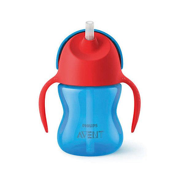 Чашка-поильник с трубочкой Philips Avent, 200 мл, синий/красныйПоильники<br>Характеристики:<br><br>• чашка-поильник для детей от 9 месяцев;<br>• трубочка с клапаном, который предотвращает протекание жидкости;<br>• защелкивающаяся крышка;<br>• легко мыть и собирать;<br>• материал: полипропилен;<br>• не содержит бисфенол-А;<br>• объем поильника: 200 мл.<br><br>Чашка-поильник облегчает переход от бутылочки к взрослой чашке. Специальный клапан в трубочке позволяет предотвратить протекание жидкости. Защелкивающаяся крышка защищает трубочку и предотвращает протекание жидкости во время переноски. Поильник совместим со всеми бутылочками Philips Avent серий Natural и Classic+ (за исключением стеклянных), а также со всеми чашками (за исключением «взрослых» чашек).<br><br>Чашку-поильник с трубочкой Philips Avent, 200 мл, синий/красный можно купить в нашем интернет-магазине.<br>Ширина мм: 111; Глубина мм: 81; Высота мм: 189; Вес г: 126; Цвет: синий/красный; Возраст от месяцев: 9; Возраст до месяцев: 36; Пол: Унисекс; Возраст: Детский; SKU: 7197084;
