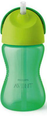 PHILIPS AVENT Чашка-поильник с трубочкой Philips Avent, 300 мл, зеленый/желтый