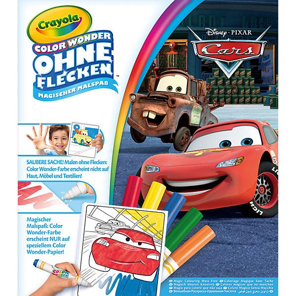 Раскраска Crayola Color Wonder ТачкиРаскраски для детей<br>Характеристики товара:<br><br>• возраст: от 4 лет;<br>• упаковка: картонная коробка;<br>• размеры упаковки - 32х24х2 см.;<br>• вес упаковки: 240 гр.; <br>• состав: бумага, пластик, картон;<br>• комплект:  1 раскраска, 5 фломастеров;<br>• бренд: Crayola (Крайола);<br>• страна-производитель: США.<br><br>Раскраска с фломастерами «Тачки» из серии Color Wonder от бренда Crayola порадует любого ребенка, любящего известный одноименный диснеевский мультик. <br><br>Комплект включает в себя контурные картинки и фломастеры базовых цветов. С таким набором ребенку будет не скучно в любом месте - раскраску и фломастеры можно всюду брать с собой. Толстые фломастеры плотно закрываются при помощи колпачков.<br><br>Рисование способствует развитию творческих навыков, мелкой моторики, координации движений, усидчивости, воображения и множеству других полезных вещей. <br><br>Товары для творчества от американского производителя Crayola изготовлены из безопасных для здоровья ребенка материалов, прошедших соответствие европейским стандартам качества. <br><br>Раскраску с фломастерами «Тачки»  Crayola (Крайола) можно купить в нашем интернет-магазине.<br>Ширина мм: 322; Глубина мм: 246; Высота мм: 32; Вес г: 244; Возраст от месяцев: 36; Возраст до месяцев: 72; Пол: Мужской; Возраст: Детский; SKU: 7197986;