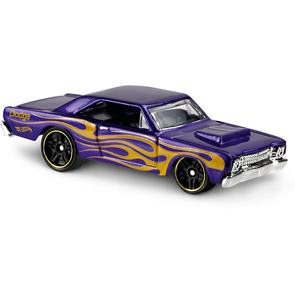Базовая машинка Hot Wheels, 68 Dodge DartМашинки<br>Характеристики:<br><br>• возраст: от 3 лет;<br>• тип игрушки: легковой транспорт;<br>• цвет: фиолеовый;<br>• особенности: инерционная;<br>• материал: пластик, металл; <br>• размер: 11х4,5х11 см;<br>• вес: 30 гр;<br>• страна бренда: США;<br>• страна производитель: Китай;<br>• тип упаковки: блистер на картоне;<br>• эффекты: без эффектов.<br><br><br>Машинка Hot Wheels 68 Dodge Dart от бренда Mattel представляет собой ретро-автомобиль, который станет достойным пополнением автопарка мальчика. Легендарная серия коллекционных машинок завоевала внимание всех детей. Быстрые и красочные  машинки Hot Wheels выглядят очень ярко и эффектно благодаря оригинальному дизайну. Они выполнены из металла и пластика, что гарантирует прочность и устойчивость к столкновениям. <br><br>Машинка раскрашена в фиолетовый цвет. Автомобиль создан из проверенных и безопасных материалов. Его особенность - защитное литое днище Темно-фиолетовый корпус машинки по бокам украшен желтыми разводами. Диски на колесах окантованы золотистым ободком. Игрушка выполнена в мельчайших деталях и тщательно прорисована.<br><br>Стильная игрушка станет отличным подарком для ребенка от трех лет. Кроме того, малыш сможет собрать целую коллекцию этих популярных машинок и обмениваться ими с друзьями. Машинка Hot Wheels 68 Dodge Dart во время гонки не оставит равнодушным ни одного мальчика. <br><br>Машинку Hot Wheels 68 Dodge Dart из базовой коллекции можно купить в нашем интернет-магазине.<br><br>Ширина мм: 110<br>Глубина мм: 45<br>Высота мм: 110<br>Вес г: 30<br>Возраст от месяцев: 36<br>Возраст до месяцев: 96<br>Пол: Мужской<br>Возраст: Детский<br>SKU: 7198099