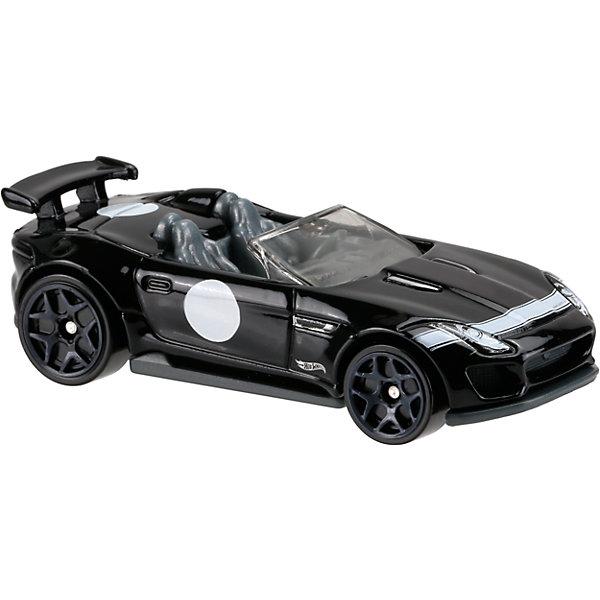 Базовая машинка Hot Wheels, 15 Jaguar F-Type Project 7Машинки<br>Характеристики:<br><br>• возраст: от 3 лет;<br>• тип игрушки: легковой транспорт;<br>• цвет: черный;<br>• особенности: инерционная;<br>• материал: пластик, металл; <br>• размер: 11х4,5х11 см;<br>• вес: 30 гр;<br>• страна бренда: США;<br>• страна производитель: Китай;<br>• тип упаковки: блистер на картоне;<br>• эффекты: без эффектов.<br><br><br>Машинка Hot Wheels 15 Jaguar F-Type Project 7 бренда Mattel представляет собой гоночный автомобиль, который станет достойным пополнением автопарка мальчика. Легендарная серия коллекционных машинок завоевала внимание всех детей. Быстрые и красочные  машинки Hot Wheels выглядят очень ярко и эффектно благодаря оригинальному дизайну. Они выполнены из металла и пластика, что гарантирует прочность и устойчивость к столкновениям. <br><br>Машинка раскрашена в черный цвет. Автомобиль создан из проверенных и безопасных материалов. Его особенность - открытый верх и литое днище. Двухместный салон  оборудован всем необходимым для комфортной езды. Игрушка выполнена из безопасных и нетоксичных материалов.<br><br>Стильная игрушка станет отличным подарком для ребенка от трех лет. Кроме того, малыш сможет собрать целую коллекцию этих популярных машинок и обмениваться ими с друзьями. Машинка Hot Wheels 15 Jaguar F-Type Project 7 во время гонки не оставит равнодушным ни одного мальчика. <br><br>Машинку Hot Wheels 15 Jaguar F-Type Project 7 можно купить в нашем интернет-магазине.<br><br>Ширина мм: 110<br>Глубина мм: 45<br>Высота мм: 110<br>Вес г: 30<br>Возраст от месяцев: 36<br>Возраст до месяцев: 96<br>Пол: Мужской<br>Возраст: Детский<br>SKU: 7198105