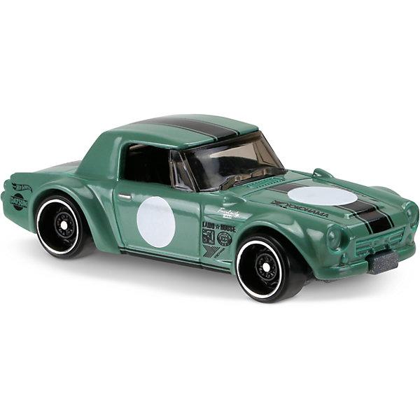 Базовая машинка Hot Wheels, Fairlady 2000Популярные игрушки<br>Характеристики:<br><br>• возраст: от 3 лет;<br>• тип игрушки: легковой транспорт;<br>• цвет: зеленый;<br>• особенности: инерционная;<br>• материал: пластик, металл; <br>• размер: 11х4,5х11 см;<br>• вес: 30 гр;<br>• страна бренда: США;<br>• страна производитель: Китай;<br>• тип упаковки: блистер на картоне;<br>• эффекты: без эффектов.<br><br><br>Машинка Hot Wheels Legends of Speed  бренда Mattel представляет собой гоночный автомобиль, который станет достойным пополнением автопарка мальчика. Легендарная серия коллекционных машинок завоевала внимание всех детей. Быстрые и красочные  машинки Hot Wheels выглядят очень ярко и эффектно благодаря оригинальному дизайну. Они выполнены из металла и пластика, что гарантирует прочность и устойчивость к столкновениям. <br><br>Машинка раскрашена в нежно-зеленый цвет с широкой черной полосой вдоль всего корпуса. Автомобиль создан из проверенных и безопасных материалов. Его особенность – ретро-стиль, открывающиеся дверцы и затемненные стекла. На бампере и боках машинки имеются надписи, характерные для гоночных автомобилей. Игрушка выполнена из безопасных и нетоксичных материалов.<br><br>Стильная игрушка станет отличным подарком для ребенка от трех лет. Кроме того, малыш сможет собрать целую коллекцию этих популярных машинок и обмениваться ими с друзьями. Машинка Hot Wheels Legends of Speed во время гонки не оставит равнодушным ни одного мальчика. <br><br>Машинку Hot Wheels Legends of Speed можно купить в нашем интернет-магазине.<br><br>Ширина мм: 110<br>Глубина мм: 45<br>Высота мм: 110<br>Вес г: 30<br>Возраст от месяцев: 36<br>Возраст до месяцев: 96<br>Пол: Мужской<br>Возраст: Детский<br>SKU: 7198106