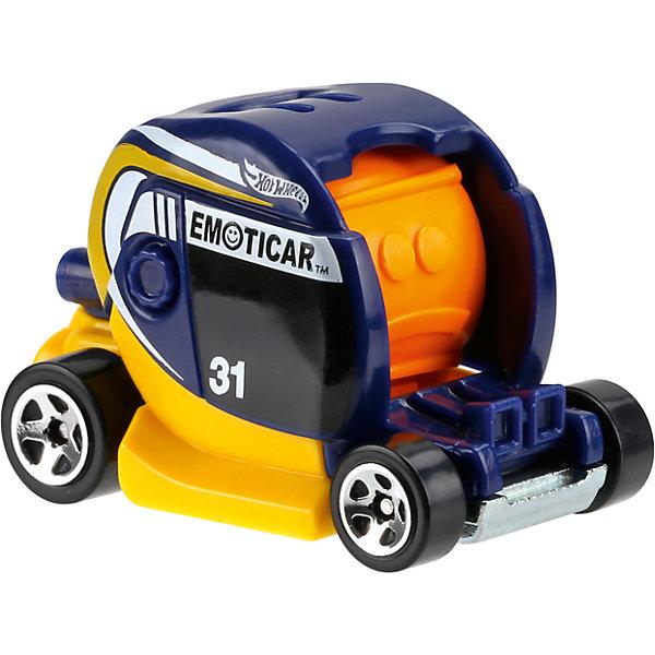 Базовая машинка Hot Wheels, EmoticarМашинки<br>Характеристики:<br><br>• возраст: от 3 лет;<br>• тип игрушки: футуристический транспорт;<br>• цвет: желтый;<br>• особенности: инерционная;<br>• материал: пластик, металл; <br>• размер: 11х4,5х11 см;<br>• вес: 30 гр;<br>• страна бренда: США;<br>• страна производитель: Китай;<br>• тип упаковки: блистер на картоне;<br>• эффекты: без эффектов.<br><br><br>Машинка Hot Wheels Emoticar бренда Mattel представляет собой футуристический автомобиль, который станет достойным пополнением автопарка мальчика. Легендарная серия коллекционных машинок завоевала внимание всех детей. Быстрые и красочные  машинки Hot Wheels выглядят очень ярко и эффектно благодаря оригинальному дизайну. Они выполнены из металла и пластика, что гарантирует прочность и устойчивость к столкновениям. <br><br>Машинка раскрашена в желтый цвет. Автомобиль создан из проверенных и безопасных материалов. Его особенность – неповторимый дизайн и необычная форма кузова. Игрушка выполнена из безопасных и нетоксичных материалов.<br><br>Стильная игрушка станет отличным подарком для ребенка от трех лет. Кроме того, малыш сможет собрать целую коллекцию этих популярных машинок и обмениваться ими с друзьями. Машинка Hot Wheels Emoticar во время гонки не оставит равнодушным ни одного мальчика. <br><br>Машинку Hot Wheels Emoticar  можно купить в нашем интернет-магазине.<br>Ширина мм: 110; Глубина мм: 45; Высота мм: 110; Вес г: 30; Возраст от месяцев: 36; Возраст до месяцев: 96; Пол: Мужской; Возраст: Детский; SKU: 7198110;