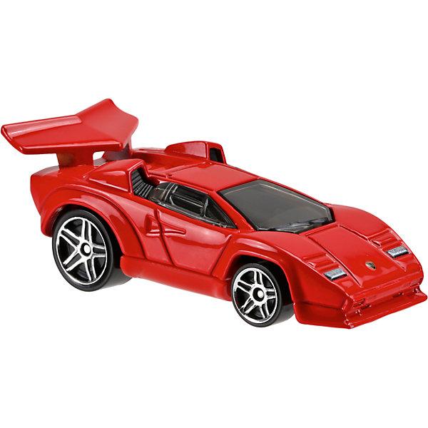 Базовая машинка Hot Wheels, Lamborghini CountachМашинки<br>Характеристики:<br><br>• возраст: от 3 лет;<br>• тип игрушки: легковой транспорт;<br>• цвет: красный;<br>• особенности: инерционная;<br>• материал: пластик, металл; <br>• размер: 11х4,5х11 см;<br>• вес: 30 гр;<br>• страна бренда: США;<br>• страна производитель: Китай;<br>• тип упаковки: блистер на картоне;<br>• эффекты: без эффектов.<br><br><br>Машинка Hot Wheels Lamborghini Countach DVB37 бренда Mattel представляет собой гоночный автомобиль, который станет достойным пополнением автопарка мальчика. Легендарная серия коллекционных машинок завоевала внимание всех детей. Быстрые и красочные  машинки Hot Wheels выглядят очень ярко и эффектно благодаря оригинальному дизайну. Они выполнены из металла и пластика, что гарантирует прочность и устойчивость к столкновениям. <br><br>Двухместная машинка раскрашена в красный цвет. Автомобиль создан из проверенных и безопасных материалов. Его особенность – литое днище, а также разный диаметр колес. Игрушка выполнена из безопасных и нетоксичных материалов.<br><br>Стильная игрушка станет отличным подарком для ребенка от трех лет. Кроме того, малыш сможет собрать целую коллекцию этих популярных машинок и обмениваться ими с друзьями. Машинка Hot Wheels Lamborghini Countach DVB37 во время гонки не оставит равнодушным ни одного мальчика. <br><br>Машинку Hot Wheels Lamborghini Countach DVB37 можно купить в нашем интернет-магазине.<br><br>Ширина мм: 110<br>Глубина мм: 45<br>Высота мм: 110<br>Вес г: 30<br>Возраст от месяцев: 36<br>Возраст до месяцев: 96<br>Пол: Мужской<br>Возраст: Детский<br>SKU: 7198113