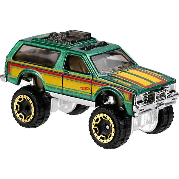 Базовая машинка Hot Wheels, Chevy Blazer 4x4Машинки<br>Характеристики:<br><br>• возраст: от 3 лет;<br>• тип игрушки: внедорожник;<br>• цвет: зеленый, желтый;<br>• особенности: инерционная;<br>• материал: пластик, металл; <br>• размер: 11х4,5х11 см;<br>• вес: 30 гр;<br>• страна бренда: США;<br>• страна производитель: Китай;<br>• тип упаковки: блистер на картоне;<br>• эффекты: без эффектов.<br><br><br>Машинка Hot Wheels «Chevy Blazer 4x4» бренда Mattel представляет собой внедорожник, который станет достойным пополнением автопарка мальчика. Легендарная серия коллекционных машинок завоевала внимание всех детей. Быстрые и красочные  машинки Hot Wheels выглядят очень ярко и эффектно благодаря оригинальному дизайну. Они выполнены из металла и пластика, что гарантирует прочность и устойчивость к столкновениям. <br><br>Машинка раскрашена в зеленый и желтый цвета. Автомобиль создан из проверенных и безопасных материалов. Особенность внедорожника – высокая подвеска, большие колеса с золотыми дисками, легкая тонировка стекол. Сплошное днище автомобиля придает особой прочности игрушки и предохраняет ее от повреждений при падении.<br>Игрушка выполнена из безопасных и нетоксичных материалов.<br><br>Стильная игрушка станет отличным подарком для ребенка от трех лет. Кроме того, малыш сможет собрать целую коллекцию этих популярных машинок и обмениваться ими с друзьями. Машинка Hot Wheels «Chevy Blazer 4x4» во время гонки не оставит равнодушным ни одного мальчика. <br><br>Машинку Hot Wheels «Chevy Blazer 4x4» можно купить в нашем интернет-магазине.<br><br>Ширина мм: 110<br>Глубина мм: 45<br>Высота мм: 110<br>Вес г: 30<br>Возраст от месяцев: 36<br>Возраст до месяцев: 96<br>Пол: Мужской<br>Возраст: Детский<br>SKU: 7198117