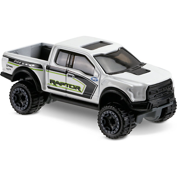 Базовая машинка Hot Wheels, 17 Ford F-150 RaptorМашинки<br>Характеристики:<br><br>• возраст: от 3 лет;<br>• тип игрушки: пикап;<br>• цвет: белый;<br>• особенности: инерционная;<br>• материал: пластик, металл; <br>• размер: 11х4,5х11 см;<br>• вес: 30 гр;<br>• страна бренда: США;<br>• страна производитель: Китай;<br>• тип упаковки: блистер на картоне;<br>• эффекты: без эффектов.<br><br><br>Машинка Hot Wheels 17 Ford F-150 Raptor бренда Mattel представляет собой детализированный пикап, который станет достойным пополнением автопарка мальчика. Легендарная серия коллекционных машинок завоевала внимание всех детей. Быстрые и красочные  машинки Hot Wheels выглядят очень ярко и эффектно благодаря оригинальному дизайну. Они выполнены из металла и пластика, что гарантирует прочность и устойчивость к столкновениям. <br><br>Машинка раскрашена в белый цвет. Автомобиль создан из проверенных и безопасных материалов. Особенность пикапа – брутальный внешний вид, прочный металлический корпус. . Специальное покрытие колес игрушечного авто позволит минимизировать трение и комфортно двигаться по любой поверхности. Игрушка выполнена из безопасных и нетоксичных материалов.<br><br>Стильная игрушка станет отличным подарком для ребенка от трех лет. Кроме того, малыш сможет собрать целую коллекцию этих популярных машинок и обмениваться ими с друзьями. Машинка Hot Wheels 17 Ford F-150 Raptor во время гонки не оставит равнодушным ни одного мальчика. <br><br>Машинку Hot Wheels 17 Ford F-150 Raptor можно купить в нашем интернет-магазине.<br><br>Ширина мм: 110<br>Глубина мм: 45<br>Высота мм: 110<br>Вес г: 30<br>Возраст от месяцев: 36<br>Возраст до месяцев: 96<br>Пол: Мужской<br>Возраст: Детский<br>SKU: 7198118