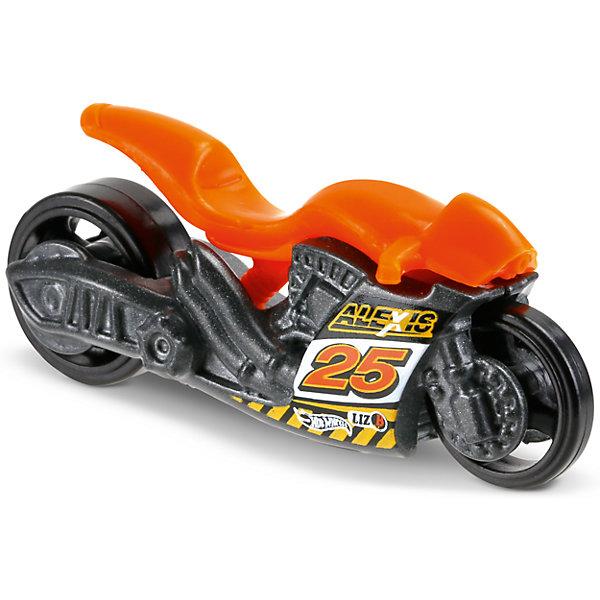 Базовая машинка Hot Wheels, Street StealthМашинки<br>Характеристики:<br><br>• возраст: от 3 лет;<br>• тип игрушки: мотоцикл;<br>• цвет: оранжевый;<br>• особенности: инерционная;<br>• материал: пластик, металл; <br>• размер: 11х4,5х11 см;<br>• вес: 30 гр;<br>• страна бренда: США;<br>• страна производитель: Китай;<br>• тип упаковки: блистер на картоне;<br>• эффекты: без эффектов.<br><br><br>Мотоцикл Hot Wheels Street Stealth бренда Mattel представляет собой яркий транспорт, который станет достойным пополнением автопарка  мальчика. Легендарная серия коллекционных машинок завоевала внимание всех детей. Быстрые и красочные  машинки Hot Wheels выглядят очень ярко и эффектно благодаря оригинальному дизайну. Они выполнены из металла и пластика, что гарантирует прочность и устойчивость к столкновениям. <br><br>Мотоцикл раскрашен в оранжевый цвет. Он создан из проверенных и безопасных материалов. Особенность мотоцикла – широкие колеса, отличная устойчивость, легкость вращения. Заднее колесо шире переднего, что придает дополнительной устойчивости транспортному средству. На боковой части корпуса имеется наклейка с цифрой «25». Игрушка выполнена из безопасных и нетоксичных материалов.<br><br>Стильная игрушка станет отличным подарком для ребенка от трех лет. Кроме того, малыш сможет собрать целую коллекцию этих популярных машинок и обмениваться ими с друзьями. Мотоцикл Hot Wheels «Street Stealth» во время гонки не оставит равнодушным ни одного мальчика. <br><br>Мотоцикл Hot Wheels «Street Stealth» можно купить в нашем интернет-магазине.<br><br>Ширина мм: 110<br>Глубина мм: 45<br>Высота мм: 110<br>Вес г: 30<br>Возраст от месяцев: 36<br>Возраст до месяцев: 96<br>Пол: Мужской<br>Возраст: Детский<br>SKU: 7198125