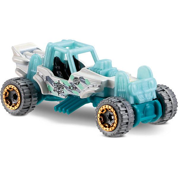Базовая машинка Hot Wheels, Mountain MaulerПопулярные игрушки<br>Характеристики:<br><br>• возраст: от 3 лет;<br>• тип игрушки: легковой транспорт;<br>• цвет: бело-бирюзовый;<br>• особенности: инерционная;<br>• материал: пластик, металл; <br>• размер: 11х4,5х11 см;<br>• вес: 30 гр;<br>• страна бренда: США;<br>• страна производитель: Китай;<br>• тип упаковки: блистер на картоне;<br>• эффекты: без эффектов.<br><br><br>Машинка Hot Wheels «Mountain Mauler» бренда Mattel представляет собой автомобиль с необычным кузовом, который станет достойным пополнением автопарка  мальчика. Легендарная серия коллекционных машинок завоевала внимание всех детей. Быстрые и красочные  машинки Hot Wheels выглядят очень ярко и эффектно благодаря оригинальному дизайну. Они выполнены из металла и пластика, что гарантирует прочность и устойчивость к столкновениям. <br><br>Машинка раскрашена в бело-бирюзовый цвет. Автомобиль создан из проверенных и безопасных материалов. Его особенность – ретро стиль, необычный окрас и золотые диски. Машинка не имеет стекол на окнах и крыше, поэтому ребенок легко сможет увидеть два черных сидения и внутреннее оснащение салона. Игрушка выполнена из безопасных и нетоксичных материалов.<br><br>Стильная игрушка станет отличным подарком для ребенка от трех лет. Кроме того, малыш сможет собрать целую коллекцию этих популярных машинок и обмениваться ими с друзьями. Машинка Hot Wheels «Mountain Mauler» во время гонки не оставит равнодушным ни одного мальчика. <br><br>Машинку Hot Wheels «Mountain Mauler» можно купить в нашем интернет-магазине.<br>Ширина мм: 110; Глубина мм: 45; Высота мм: 110; Вес г: 30; Возраст от месяцев: 36; Возраст до месяцев: 96; Пол: Мужской; Возраст: Детский; SKU: 7198126;