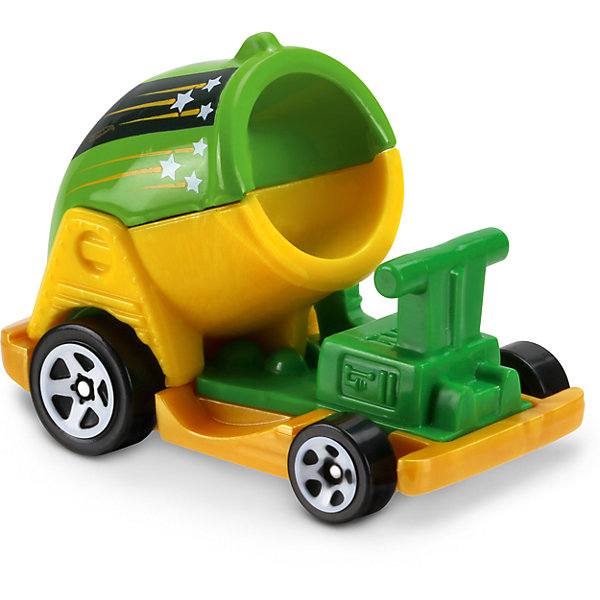 Базовая машинка Hot Wheels, Boom CarПопулярные игрушки<br>Характеристики:<br><br>• возраст: от 3 лет;<br>• тип игрушки: машинка-тележка;<br>• цвет: желто-зеленый;<br>• особенности: инерционная;<br>• материал: пластик, металл; <br>• размер: 11х4,5х11 см;<br>• вес: 30 гр;<br>• страна бренда: США;<br>• страна производитель: Китай;<br>• тип упаковки: блистер на картоне;<br>• эффекты: без эффектов.<br><br><br>Машинка Hot Wheels Boom Car DVC10 бренда Mattel представляет собой автомобиль в виде тележки, который станет достойным пополнением автопарка  мальчика. Легендарная серия коллекционных машинок завоевала внимание всех детей. Быстрые и красочные  машинки Hot Wheels выглядят очень ярко и эффектно благодаря оригинальному дизайну. Они выполнены из металла и пластика, что гарантирует прочность и устойчивость к столкновениям. <br><br>Машинка раскрашена в желто-зеленый цвет. Автомобиль создан из проверенных и безопасных материалов. Его особенность - необычный дизайн и форма. Передние и задние колеса имеют разную ширину и диаметр, что придает дополнительной устойчивости автомобилю. Игрушка выполнена из безопасных и нетоксичных материалов.<br><br>Стильная игрушка станет отличным подарком для ребенка от трех лет. Кроме того, малыш сможет собрать целую коллекцию этих популярных машинок и обмениваться ими с друзьями. Машинка Hot Wheels Boom Car DVC10 во время гонки не оставит равнодушным ни одного мальчика. <br><br>Машинку Hot Wheels Boom Car DVC10  можно купить в нашем интернет-магазине.<br><br>Ширина мм: 110<br>Глубина мм: 45<br>Высота мм: 110<br>Вес г: 30<br>Возраст от месяцев: 36<br>Возраст до месяцев: 96<br>Пол: Мужской<br>Возраст: Детский<br>SKU: 7198127