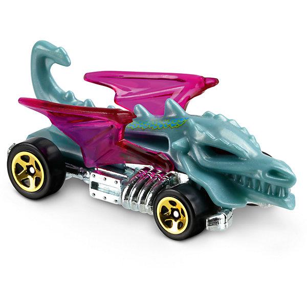 Базовая машинка Hot Wheels, Dragon BlasterМашинки<br>Характеристики:<br><br>• возраст: от 3 лет;<br>• тип игрушки: легковой транспорт;<br>• цвет: голубой, фиолетовый;<br>• особенности: инерционная;<br>• материал: пластик, металл; <br>• размер: 11х4,5х11 см;<br>• вес: 30 гр;<br>• страна бренда: США;<br>• страна производитель: Китай;<br>• тип упаковки: блистер на картоне;<br>• эффекты: без эффектов.<br><br><br>Машинка Hot Wheels Dragon Blaster DVC22 бренда Mattel представляет собой гоночный автомобиль-монстр, который станет достойным пополнением автопарка  мальчика. Легендарная серия коллекционных машинок завоевала внимание всех детей. Быстрые и красочные  машинки Hot Wheels выглядят очень ярко и эффектно благодаря оригинальному дизайну. Они выполнены из металла и пластика, что гарантирует прочность и устойчивость к столкновениям. <br><br>Машинка в виде голубого дракона имеет огромные зубы и фиолетовые крылья.  Автомобиль создан из проверенных и безопасных материалов. Его особенность - необычный дизайн и форма. Литое серебристое днище автомобиля придает игрушке особой устойчивости и прочности. Быстрые черные колеса с золотистыми дисками смогут развить высокую скорость. Игрушка-монстр выполнена из безопасных и нетоксичных материалов.<br><br>Стильная игрушка станет отличным подарком для ребенка от трех лет. Кроме того, малыш сможет собрать целую коллекцию этих популярных машинок и обмениваться ими с друзьями. Машинка Hot Wheels Dragon Blaster DVC22 во время гонки не оставит равнодушным ни одного мальчика. <br><br>Машинку Hot Wheels Dragon Blaster DVC22 можно купить в нашем интернет-магазине.<br><br>Ширина мм: 110<br>Глубина мм: 45<br>Высота мм: 110<br>Вес г: 30<br>Возраст от месяцев: 36<br>Возраст до месяцев: 96<br>Пол: Мужской<br>Возраст: Детский<br>SKU: 7198129