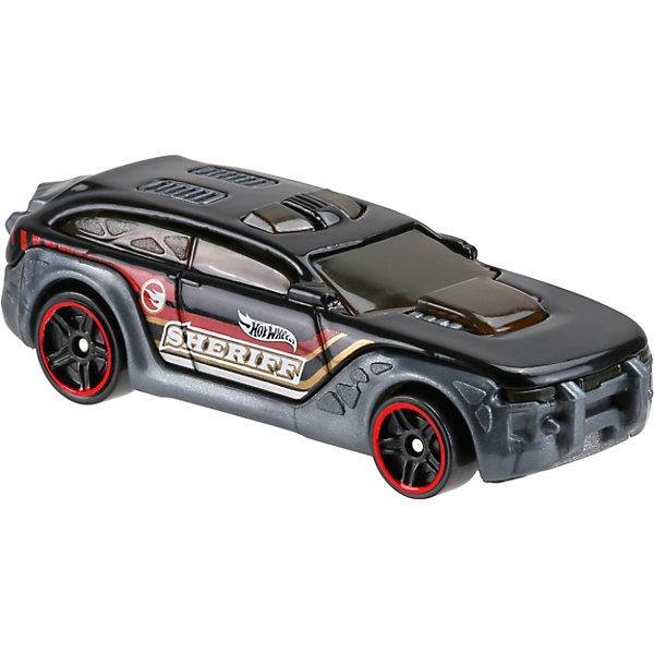 Базовая машинка Hot Wheels, HW PursuitПопулярные игрушки<br>Характеристики:<br><br>• возраст: от 3 лет;<br>• тип игрушки: легковой транспорт;<br>• цвет: черный;<br>• особенности: инерционная;<br>• материал: пластик, металл; <br>• размер: 11х4,5х11 см;<br>• вес: 30 гр;<br>• страна бренда: США;<br>• страна производитель: Китай;<br>• тип упаковки: блистер на картоне;<br>• эффекты: без эффектов.<br><br><br>Машинка Hot Wheels бренда Mattel представляет собой автомобиль из базовой серии, который станет достойным пополнением автопарка  мальчика. Легендарная серия коллекционных машинок завоевала внимание всех детей. Быстрые и красочные  машинки Hot Wheels выглядят очень ярко и эффектно благодаря оригинальному дизайну. Они выполнены из металла и пластика, что гарантирует прочность и устойчивость к столкновениям. <br><br>Машинка раскрашена в черный цвет. Автомобиль создан из проверенных и безопасных материалов. Игрушка выполнена из безопасных и нетоксичных материалов. Серия базовых моделей автомобилей Hot Wheels включает в себя 72 модели. В линейках есть  повседневные автомобили, скоростные и спортивные.<br><br>Стильная игрушка станет отличным подарком для ребенка от трех лет. Кроме того, малыш сможет собрать целую коллекцию этих популярных машинок и обмениваться ими с друзьями. Машинка Hot Wheels во время гонки не оставит равнодушным ни одного мальчика. <br><br>Машинку Hot Wheels можно купить в нашем интернет-магазине.<br>Ширина мм: 110; Глубина мм: 45; Высота мм: 110; Вес г: 30; Возраст от месяцев: 36; Возраст до месяцев: 96; Пол: Мужской; Возраст: Детский; SKU: 7198131;