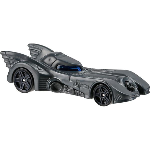 Базовая машинка Hot Wheels, BatmobileМашинки<br>Характеристики:<br><br>• возраст: от 3 лет;<br>• тип игрушки: легковой транспорт;<br>• цвет: серый;<br>• особенности: инерционная;<br>• материал: пластик, металл; <br>• размер: 11х4,5х11 см;<br>• вес: 30 гр;<br>• страна бренда: США;<br>• страна производитель: Китай;<br>• тип упаковки: блистер на картоне;<br>• эффекты: без эффектов.<br><br><br>Машинка Hot Wheels Batmobile FCC14 бренда Mattel представляет собой фантастический бэтмобиль, который станет достойным пополнением автопарка  мальчика. Легендарная серия коллекционных машинок завоевала внимание всех детей. Быстрые и красочные  машинки Hot Wheels выглядят очень ярко и эффектно благодаря оригинальному дизайну. Они выполнены из металла и пластика, что гарантирует прочность и устойчивость к столкновениям. <br><br>Машинка раскрашена в темно-серый цвет. Автомобиль создан из проверенных и безопасных материалов. Его особенность - вытянутый, слегка опущенный спереди корпус, быстрые колеса, имитация крыльев на задней части корпуса Игрушка выполнена из безопасных и нетоксичных материалов. <br><br>Стильная игрушка станет отличным подарком для ребенка от трех лет. Кроме того, малыш сможет собрать целую коллекцию этих популярных машинок и обмениваться ими с друзьями. Машинка Hot Wheels Batmobile FCC14 во время гонки не оставит равнодушным ни одного мальчика. <br><br>Машинку Hot Wheels Batmobile FCC14 можно купить в нашем интернет-магазине.<br>Ширина мм: 110; Глубина мм: 45; Высота мм: 110; Вес г: 30; Возраст от месяцев: 36; Возраст до месяцев: 96; Пол: Мужской; Возраст: Детский; SKU: 7198132;