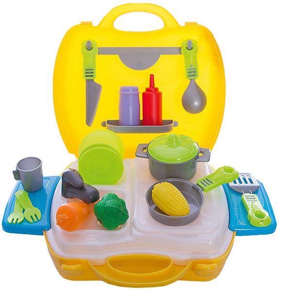 Игровой набор EstaBella Kitchen в чемоданчикеДетские кухни<br>Характеристики товара:<br><br>• возраст: от 3 лет<br>• комплект: чемодан, плита, приборы, продукты.<br>• материал: пластик.<br>• размер упаковки: 24х20х10 см.<br>• упаковка: картонная коробка открытого типа.<br>• страна обладатель бренда: Китай.<br><br>«EstaBella»  - это увлекательный мир игры, фантазии, воображения для маленькой девочки. Kitchen - это набор в чемоданчике, который поможет скрасить досуг любой девочки. <br><br>При помощи такого набора девочка сможет затеять приготовление какого-нибудь сложного блюда. В комплекте: чемодан, плита, приборы, продукты. 26 элементов. <br><br>«EstaBella» Кухонный набор в чемоданчике можно купить в нашем интернет-магазине.<br><br>Ширина мм: 240<br>Глубина мм: 200<br>Высота мм: 100<br>Вес г: 594<br>Возраст от месяцев: 36<br>Возраст до месяцев: 2147483647<br>Пол: Женский<br>Возраст: Детский<br>SKU: 7198955