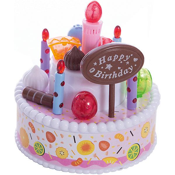 Тортик EstaBella С днем рождения!Игрушечные продукты питания<br>Характеристики товара:<br><br>• возраст: от 3 лет<br>• материал: пластик.<br>• размер упаковки: 19,5х16х14 см.<br>• упаковка: картонная коробка.<br>• страна обладатель бренда: Китай.<br><br>Праздничный тортик  «С днем рождения!» от производителя EstaBella станет отличным подарком для малыша. <br><br>С этим игрушечным десертом можно делать все, что заблагорассудится: менять по своему желанию положение декора ягод, зефира, мармелада.Зажигать свечи, которые начинают мерцать, задувать свечу и слышать после этого громкие аплодисменты, слушать праздничную музыку.<br><br>Праздничный тортик  «С днем рождения!»  EstaBella можно купить в нашем интернет-магазине.<br><br>Ширина мм: 195<br>Глубина мм: 160<br>Высота мм: 140<br>Вес г: 0<br>Возраст от месяцев: 36<br>Возраст до месяцев: 2147483647<br>Пол: Женский<br>Возраст: Детский<br>SKU: 7198960