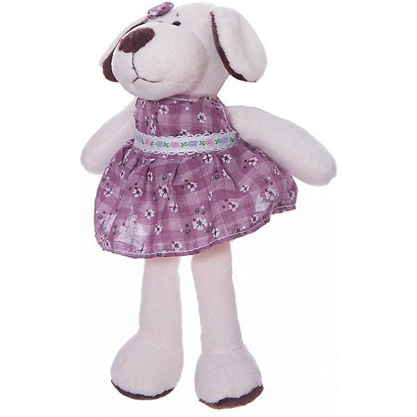 Собака в платье, 16смМягкие игрушки животные<br>Характеристики товара:<br><br>• возраст: от 3 лет;<br>• цвет: белый;<br>• материал: искусственный мех, наполнитель, пластик;<br>• размер упаковки: 7х10х5 см;<br>• высота игрушки: 16 см.<br><br>Мягкая игрушка представлена в виде очаровательной собаки в платье, которая не оставит равнодушным ни одного ребенка благодаря своему милому виду. Помимо платья, на собачку надет красивый бант, который дополняет образ милашки. Игрушка сшита из искусственного меха и наполнена мягким материалом, благодаря чему обнимать ее - сплошное удовольствие.<br><br>Teddy, Собаку в платье можно купить в нашем интернет-магазине.<br><br>Ширина мм: 70<br>Глубина мм: 50<br>Высота мм: 100<br>Вес г: 30<br>Возраст от месяцев: 36<br>Возраст до месяцев: 180<br>Пол: Унисекс<br>Возраст: Детский<br>SKU: 7199793