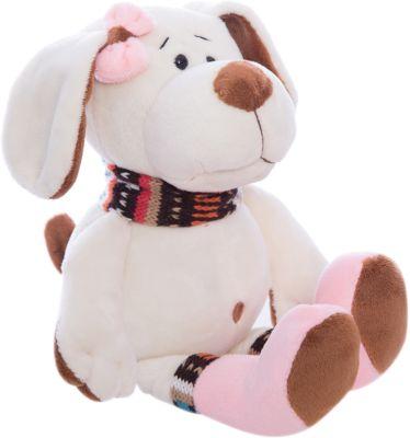 TEDDY Собака с розовым бантом, 17см