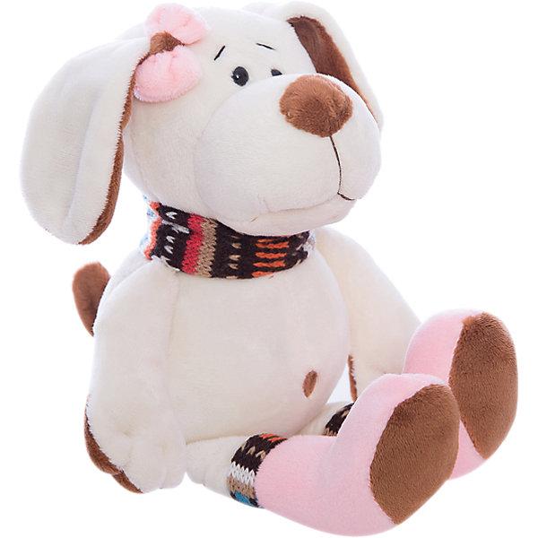 Мягкая игрушка TEDDY Собака с розовым бантом, 17 смМягкие игрушки животные<br>Характеристики товара:<br><br>• возраст: от 3 лет;<br>• материал: текстиль, наполнитель, пластик, плюш;<br>• размер упаковки: 18х30х12 см;<br>• цвет: бежевый;<br>• высота игрушки: 17 см.<br><br>Мягкая игрушка Собака с розовым бантом будет прекрасным подарком малышу. Аккуратная бежевая шерстка и украшение в виде бантика никого не оставят равнодушным. <br><br>Если ребенок давно хотел щенка, но возможности завести его так и не появилось, игрушечная собака может стать утешением. Достаточно несколько ночей проспать с ней в обнимку и он полюбит ее как настоящую.<br><br>Teddy, Собаку с розовым бантом можно купить в нашем интернет-магазине.<br><br>Ширина мм: 80<br>Глубина мм: 50<br>Высота мм: 80<br>Вес г: 35<br>Возраст от месяцев: 36<br>Возраст до месяцев: 180<br>Пол: Унисекс<br>Возраст: Детский<br>SKU: 7199797