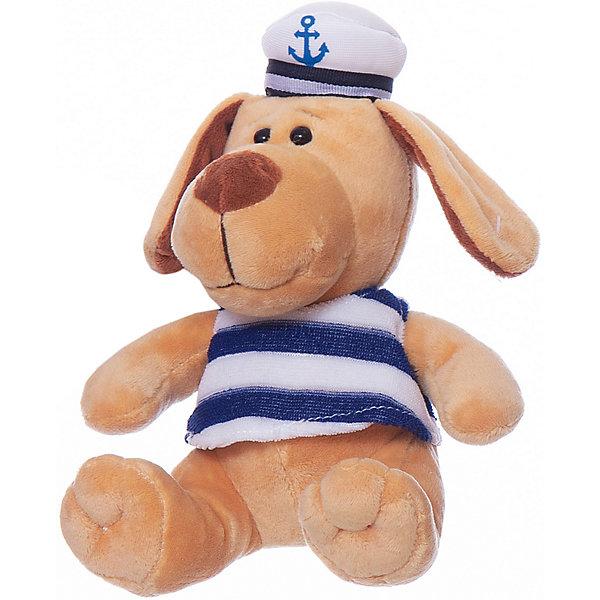 Собака морячок, 15смСимвол 2018 года: Собака<br>Характеристики товара:<br><br>• возраст: от 3 лет;<br>• материал: текстиль, наполнитель, пластик, плюш;<br>• размер упаковки: 15х15х15 см;<br>• высота игрушки: 15 см.<br><br>Мягкая игрушка Собака морячок может понравиться как мальчикам, так и девочкам. Игрушечная собачка выглядит очень мило, у нее преданные глаза. <br><br>На плюшевую игрушку надета майка в полоску, у нее на голове фуражка белого цвета. В процессе игры дети смогут развить заботливость, внимательность и воображение.<br><br>Teddy, Собаку-морячка можно купить в нашем интернет-магазине.<br>Ширина мм: 50; Глубина мм: 53; Высота мм: 53; Вес г: 82; Возраст от месяцев: 36; Возраст до месяцев: 180; Пол: Унисекс; Возраст: Детский; SKU: 7199798;