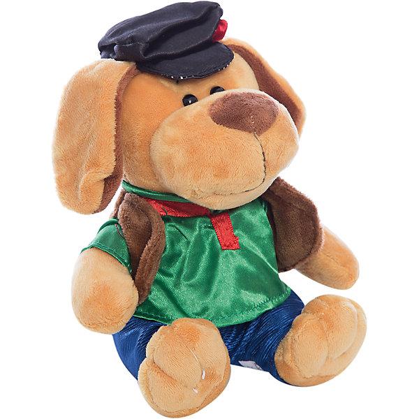 Собака в кепке, 15смСимвол года<br>Характеристики товара:<br><br>• возраст: от 3 лет;<br>• материал: текстиль, наполнитель, пластик, плюш;<br>• размер упаковки: 15х17х15 см;<br>• высота игрушки: 15 см.<br><br>Мягкая игрушка Собака в кепке порадует всех своим внешним видом. Эта милая собачка станет другом малыша и героем многих игр, придуманных им. Одета собачка в симпатичную черную кепочку с розочкой на макушке, в зеленую кофту с коричневым жилетом и синие брючки. <br><br>Изготовлена игрушка из качественного синтепона и искусственного меха. <br><br>Teddy, Собаку в кепке можно купить в нашем интернет-магазине.<br>Ширина мм: 70; Глубина мм: 50; Высота мм: 70; Вес г: 85; Возраст от месяцев: 36; Возраст до месяцев: 180; Пол: Унисекс; Возраст: Детский; SKU: 7199799;