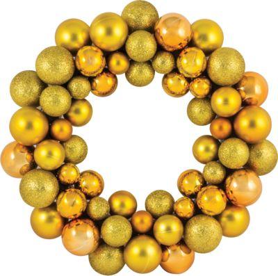 Волшебная Страна Новогодний венок из шариков Magic Land, 33 см (желтый)