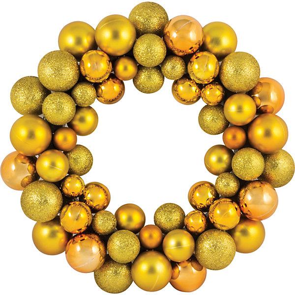 Новогодний венок из шариков Magic Land, 33 см (желтый)Новогодние венки<br>Характеристики товара:<br><br>материал: пластик;<br>размер : 33 см;<br>упаковка: п/э пакет+стикер;<br>не рекомендуется детям младше 3 лет.<br><br>Венок из шариков Magic Land украсит интерьер во время зимних праздников. Его можно повесить на дверь, стену или окно. <br><br>Венок Новогодний 33 см можно купить в нашем интернет-магазине.<br><br>Ширина мм: 355<br>Глубина мм: 350<br>Высота мм: 67<br>Вес г: 328<br>Возраст от месяцев: 36<br>Возраст до месяцев: 2147483647<br>Пол: Унисекс<br>Возраст: Детский<br>SKU: 7199830