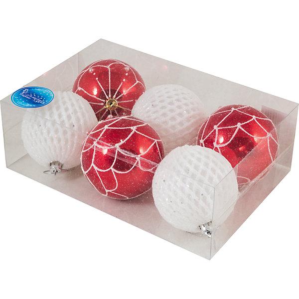 Набор шаров Magic Land 6 шт, 8 смНовинки Новый Год<br>Характеристики:<br><br>• возраст: от 3 лет;<br>• материал: пластик; <br>• размеры шаров: 8 см;<br>• тип упаковки: ПВХ бокс;<br>•страна производитель: Китай.<br><br>Набор новогодних игрушек «Magic Land» выполнен из пластика, поэтому украшения прослужат долго. Благодаря своему материалу игрушки не только не бьются, но очень легкие. <br><br>Набор шаров 6шт. можно купить в нашем интернет-магазине.<br><br>Ширина мм: 234<br>Глубина мм: 156<br>Высота мм: 80<br>Вес г: 156<br>Возраст от месяцев: 36<br>Возраст до месяцев: 2147483647<br>Пол: Унисекс<br>Возраст: Детский<br>SKU: 7199846