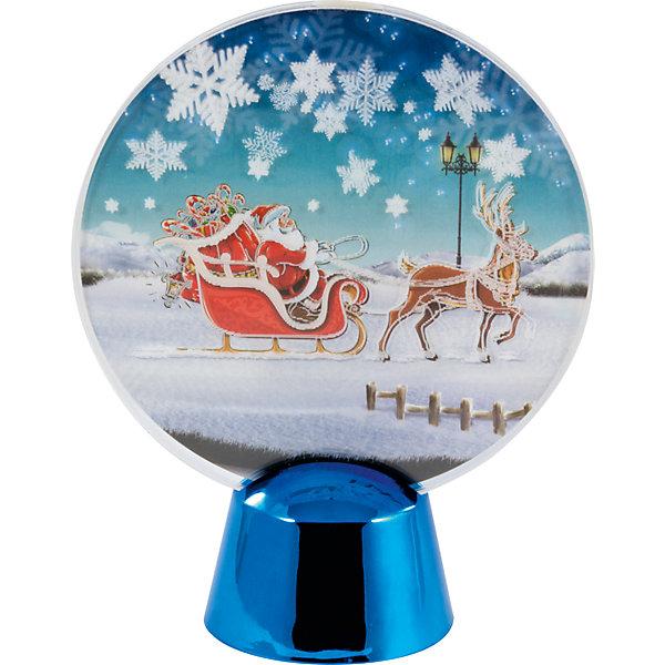Новогодний светильник Magic Land Дед Мороз в саняхНовогодние световые фигуры<br>Характеристики:<br><br>• возраст: от 3 лет;<br>• 3D<br>• мигающий белый свет (светодиодная лента 2 светодиода) <br>• работа от батарейки СR2032 (2 шт в комплекте) <br>• переключатель ВКЛ/ВЫКЛ в основании базы <br>• перед включением необходимо удалить защитный ярлычок из отсека для батареек <br>• состав: акрил, пластик, металл <br>• размер базы 4,5х4,5х3,3 см <br>• размер акрилового полотна 9х0,5х9см<br>• упаковка: блистер<br><br>Новогодняя световая композиция дополнит новогодний интерьер и подарит тепло и уют во время праздника. <br><br>Светильник акриловый Дедушка мороз в санях можно купить в нашем интернет-магазине.<br><br>Ширина мм: 192<br>Глубина мм: 133<br>Высота мм: 50<br>Вес г: 98<br>Возраст от месяцев: 36<br>Возраст до месяцев: 2147483647<br>Пол: Унисекс<br>Возраст: Детский<br>SKU: 7199861