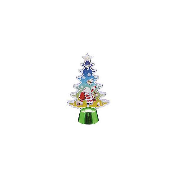 Новогодний светильник Magic Land Елочка и Дедушка МорозНовогодние световые фигуры<br>Характеристики:<br><br>• возраст: от 3 лет;<br>• 3D<br>• мигающий белый свет (светодиодная лента 2 светодиода) <br>• работа от батарейки СR2032 (2 шт в комплекте) <br>• переключатель ВКЛ/ВЫКЛ в основании базы <br>• перед включением необходимо удалить защитный ярлычок из отсека для батареек <br>• состав: акрил, пластик, металл <br>• размер базы 4,5х4,5х3,3 см <br>• упаковка: блистер<br><br>Новогодняя световая композиция дополнит новогодний интерьер и подарит тепло и уют во время праздника. <br><br>Светильник акриловый Елочка и дедушка мороз можно купить в нашем интернет-магазине.<br><br>Ширина мм: 192<br>Глубина мм: 133<br>Высота мм: 50<br>Вес г: 9<br>Возраст от месяцев: 36<br>Возраст до месяцев: 2147483647<br>Пол: Унисекс<br>Возраст: Детский<br>SKU: 7199864