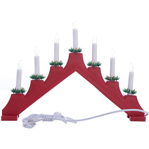 Новогодний светильник Magic Land Треугольник TR-7, 7 лампНовогодние световые фигуры<br>Характеристики:<br><br>• возраст: от 3 лет;<br>• цвет: красный <br>• кол-во ламп 7 шт <br>• размер: 41*32 см<br>• работа от сети 220-240В, 50 Гц <br>• один режим работы (без мигания) <br>• для использования внутри помещений, класс защиты IP20 <br>• материал -пластик <br>• мощность 21Вт<br><br>Светильник  настольный Треугольник дополнит новогодний интерьер и подарит тепло и уют во время праздника. <br><br>Светильник  настольный Треугольник можно купить в нашем интернет-магазине.<br><br>Ширина мм: 425<br>Глубина мм: 60<br>Высота мм: 275<br>Вес г: 53<br>Возраст от месяцев: 36<br>Возраст до месяцев: 2147483647<br>Пол: Унисекс<br>Возраст: Детский<br>SKU: 7199867