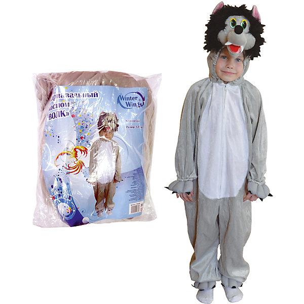 Карнавальный костюм Winter Wings ВолкКарнавальные костюмы для мальчиков<br>Характеристики товара:<br><br>• возраст: от 3 лет;<br>• упаковка: пакет с европодвесом;<br>• модель - Волк;<br>• цвет - серый/белый;<br>• размер - 5-7 лет;<br>• состав - полиэстер;<br>• бренд, страна бренда: Winter Wings (Винтер Вингс), Канада;<br>• страна-производитель: Китай.<br><br>Карнавальный костюм  «Волк» от торговой марки Winter Wings поможет сделать любой праздник веселым и незабываемым, оригинально дополнит любую творческую детскую сценку и несомненно порадует вас и вашего малыша.<br><br>Этот карнавальный костюм очень качественно сшит и выполнен в виде комбинезона серого цвета, приятного на ощупь.<br><br>Компания  Winter Wings  - настоящий эксперт в оригинальных качественных новогодних украшениях, один из самых широких новогодних ассортиментов на российском рынке.<br><br>Карнавальный костюм  «Волк»  Winter Wings  можно купить в нашем интернет-магазине.<br>Ширина мм: 400; Глубина мм: 500; Высота мм: 80; Вес г: 889; Возраст от месяцев: 60; Возраст до месяцев: 84; Пол: Унисекс; Возраст: Детский; SKU: 7220642;