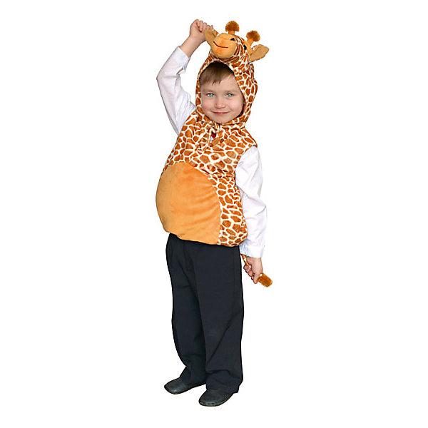 Карнавальный костюм Winter Wings Жираф (жилет)Карнавальные костюмы для мальчиков<br>Карнавальный костюм ЖИРАФ, жилет, Размер 3-4 года, полиэстр<br><br>Ширина мм: 400<br>Глубина мм: 500<br>Высота мм: 80<br>Вес г: 444<br>Возраст от месяцев: 36<br>Возраст до месяцев: 48<br>Пол: Унисекс<br>Возраст: Детский<br>SKU: 7220643