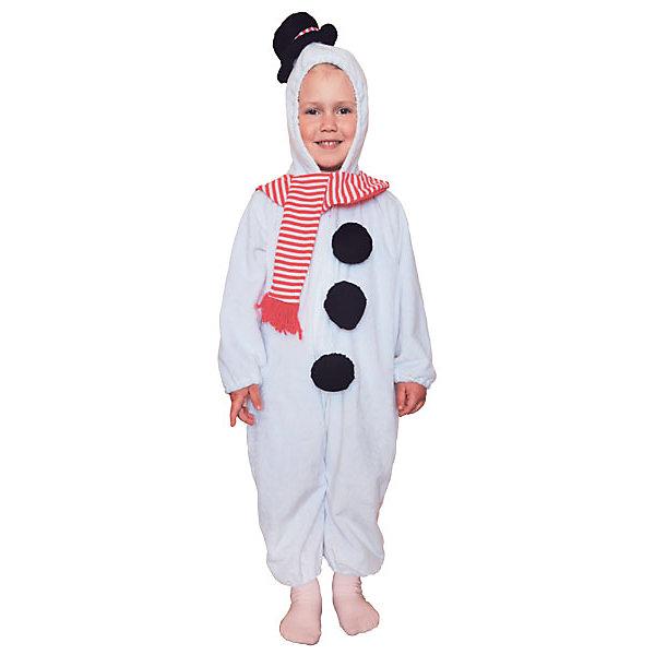 Карнавальный костюм Winter Wings Снеговик (комбинезон)Карнавальные костюмы для мальчиков<br>Характеристики товара:<br><br>• возраст: от 3 лет;<br>• упаковка: пакет с европодвесом;<br>• модель - Снеговик;<br>• цвет - белый;<br>• размер - 3-4 года;<br>• состав - полиэстер;<br>• бренд, страна бренда: Winter Wings (Винтер Вингс), Канада;<br>• страна-производитель: Китай.<br><br>Карнавальный костюм  «Снеговик» от торговой марки Winter Wings поможет сделать любой праздник веселым и незабываемым, оригинально дополнит любую творческую детскую сценку и несомненно порадует вас и вашего малыша.<br><br>Этот карнавальный костюм очень качественно сшит и выполнен в виде комбинезона белого цвета, приятного на ощупь, а также декорирован шарфом и шляпкой.<br><br>Компания  Winter Wings  - настоящий эксперт в оригинальных качественных новогодних украшениях, один из самых широких новогодних ассортиментов на российском рынке.<br><br>Карнавальный костюм  «Снеговик», комбинезон,  Winter Wings  можно купить в нашем интернет-магазине.<br><br>Ширина мм: 400<br>Глубина мм: 500<br>Высота мм: 80<br>Вес г: 500<br>Возраст от месяцев: 36<br>Возраст до месяцев: 48<br>Пол: Унисекс<br>Возраст: Детский<br>SKU: 7220649