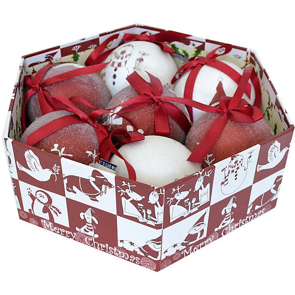 Набор елочных шаров Winter Wings Новогодние комиксы, 14 штЁлочные игрушки<br>Характеристики товара:<br><br>• возраст: от 3 лет;<br>• упаковка: подарочная коробка;<br>• вес: 830 гр.;<br>• количество: 14 шт.;<br>• цвет: красный/белый;<br>• диаметр: 7,5 см.;<br>• форма: шар;<br>• материал: картон;<br>• бренд, страна бренда: Winter Wings (Винтер Вингс), Канада;<br>• страна-производитель: Китай.<br><br>Набор шаров-фрости «НОВОГОДНИЕ КОММИКСЫ» от торговой марки Winter Wings состоит из 14 декоративных подвесных украшений с тематическим узором, выполненных из картона в виде шаров. Изделия оформлены новогодними изображениями и покрыты декоративной прозрачной крошкой. С помощью специальной петельки их можно повесить  на праздничную новогоднюю елку.<br><br>Набор упакован в подарочную упаковку, благодаря чему он отлично подойдет в качестве хорошего новогоднего сувенира родным и близким.<br><br>Елочная игрушка - символ Нового года и Рождества. Она несет в себе волшебство и красоту праздника. Создайте в своем доме атмосферу веселья и радости, украшая новогоднюю елку нарядными игрушками, которые будут из года в год накапливать теплоту воспоминаний. <br><br>Компания  Winter Wings  - настоящий эксперт в оригинальных качественных новогодних украшениях, один из самых широких новогодних ассортиментов на российском рынке.<br><br>Набор шаров-фрости «НОВОГОДНИЕ КОМИКСЫ», 14 шт, диаметр 7,5 см., Winter Wings  можно купить в нашем интернет-магазине.<br>Ширина мм: 350; Глубина мм: 350; Высота мм: 80; Вес г: 833; Возраст от месяцев: 36; Возраст до месяцев: 2147483647; Пол: Унисекс; Возраст: Детский; SKU: 7220670;