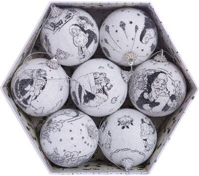 Набор елочных шаров Winter Wings Новогодние комиксы , 7 шт